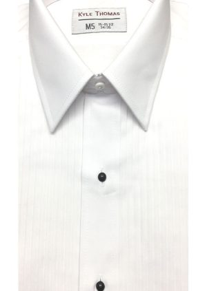 White-Laydown-Collar-Tuxedo-Shirt