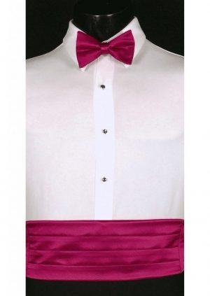 Fuchsia Cummerbund and bow tie