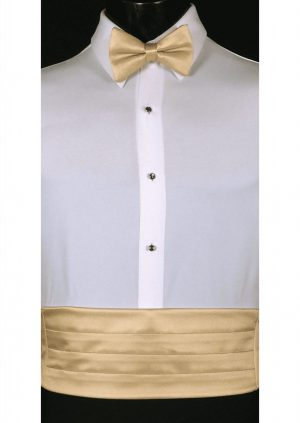 Golden Cummerbund and bow tie