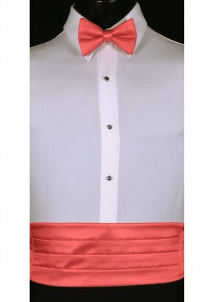 Guava Cummerbund and bow tie