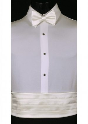 Ivory Cummerbund and bow tie