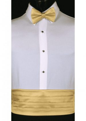 Maize Cummerbund and bow tie