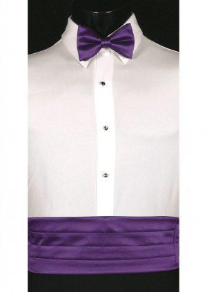 Purple Cummerbund and bow tie