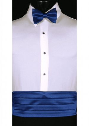 Royal Blue Cummerbund and bow tie