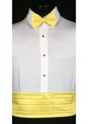 Sunbeam yellow Cummerbund and bow tie