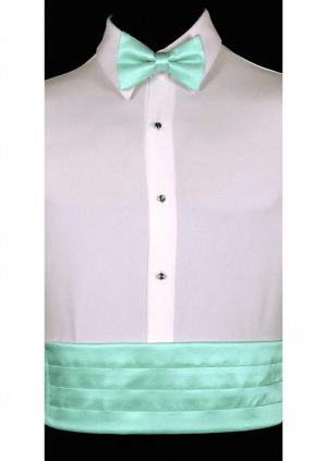 Tiffany Blue Cummerbund and bow tie