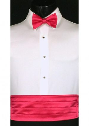 Watermelon Cummerbund and bow tie