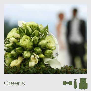 bouquet of green flowers - click here for green suspender selections