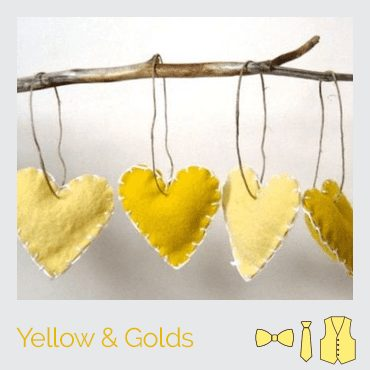 yellow hearts on a limb