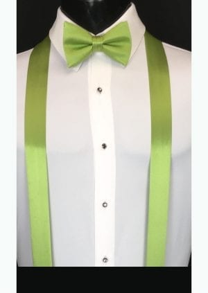 apple green suspenders