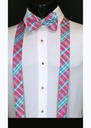 fuchsia plaid suspenders