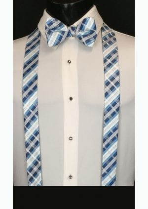 blue and navy plaid suspenders