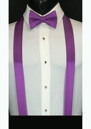 bright purple suspenders