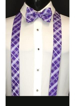purple plaid suspenders