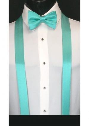 mermaid green suspenders