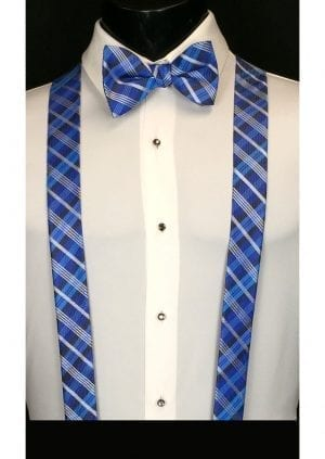 royal blue plaid suspenders