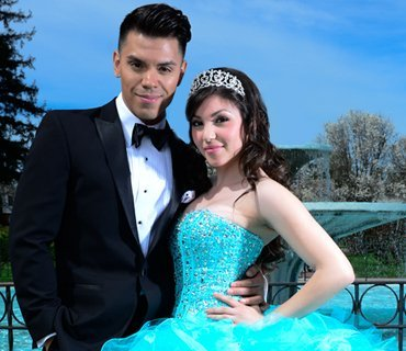 quinceanera and escort picture click here to see tuxedo, suit and cadet rentals