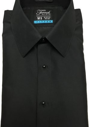 Black Fitted Dress Shirt