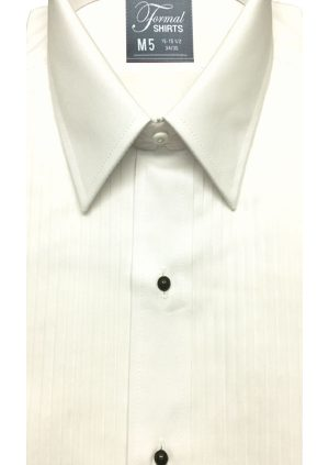 Ivory-Laydown-Collar-Tuxedo-Shirt