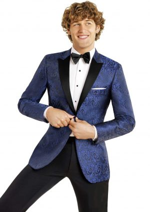 Blue Paisley Dinner Jacket