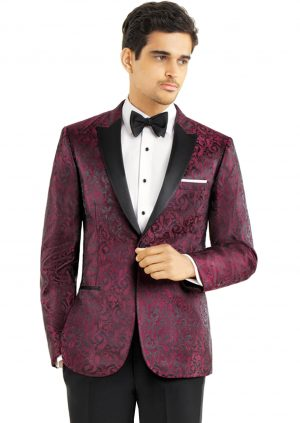 Burgundy Paisley Dinner Jacket